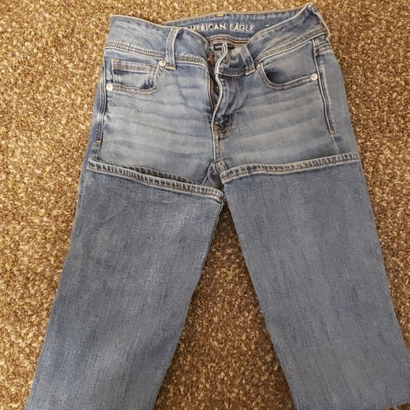 American Eagle Outfitters Denim - 00 Light Wash American Eagle Kick Boot